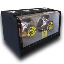 "1x Audiotek Dual 12"" 2000 Watt Power Band Pass w/ Subwoofer Audio Car | At-512Fb"