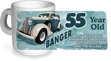 Funny 55 Year Old Banger Classic Car Motif for 55th Birthday CERAMIC Coffee MUG