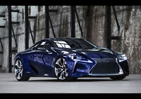 BLUE LEXUS LF CONCEPT NEW A2 CANVAS GICLEE ART PRINT POSTER FRAMED