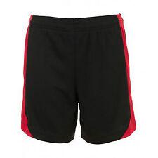 SOLS - Pantalones cortos de fútbol estilo Olímpico para hombre M Negro/Rojo