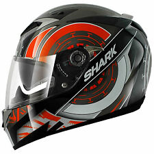 Shark S900C Code Motorcycle Helmet Black / Orange / White XS 53-54cm RRP $379.95
