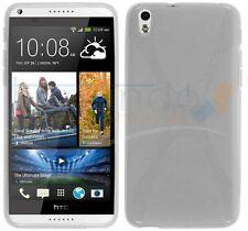 FUNDA GEL TPU X-LINE TRANSPARENTE + PROTECTOR de PANTALLA para HTC DESIRE 816