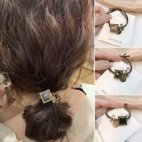 Fashion Elastic Women Hair Band Tie Rope Ring Hairband Ponytail Holder O9D4