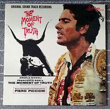 """Piero Piccioni """"The Moment of Truth"""" OST Soundtrack LP Vinyl Record Mainstream"""