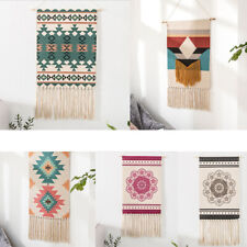 Macrame Woven Wall Hanging Tapestry Hemp Rope Boho Chic Art Tassel Home Decor