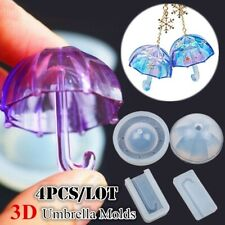 3D Umbrella Shape UV Epoxy Resin Mold Silicone Charm DIY Jewelry Making Mould
