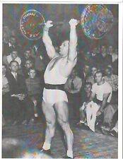 JOHN GRIMEK Olympic Weightlifting Bodybuilding Muscle Photo B+W