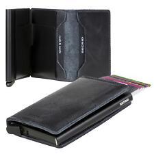 Kartenetui SECRID Cardprotector RFID Slimwallet Minibörse Leder schwarz VINTAGE
