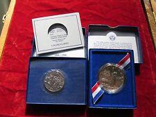 1986 ELLIS ISLAND COMMEMORATIVE SILVER DOLLAR & Half set  UNCIRCULATED Silver