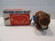 Vintage Modern Toys Japan Wind Up Walking Lovely Bear Toy w/ Box