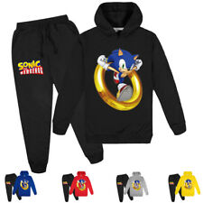 Sweatshirts Hoodies New Fashion Kids Clothes Cartoon Sonic The Hedgehog Print