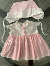 "VINTAGE TINY TEARS - PINK SIGNATURE DRESS & Hat for 13"" DOLL"