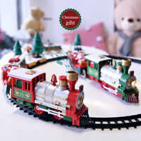 Train Set Model Kids Toys Remote Control Conveyance Car Electric Steam SmokiIJ