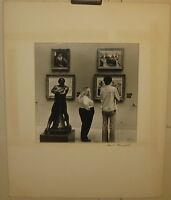 Original Vintage DAVID ROSENFELD 'Museum Series - Looking at Art' PHOTOGRAPH