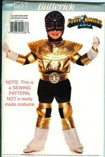 Butterick 4657 GOLD Power Rangers Costume PATTERN ZEO child size 4-14 UNCUT