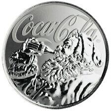 ILES FIDGI 2019 - 1$ - Coca-Cola® - Santa Claus - Argent 1 oz (once) - coincard
