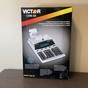 Victor 1240-3A 12 Digit Heavy Duty Commercial Printing Calculator AntiMicrobial