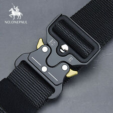 NO.ONEPAUL Tactical belt Military high quality Nylon men's training belt metal