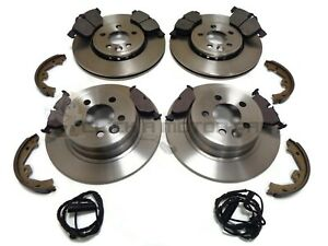 ROVER MG ZT FRONT & REAR BRAKE DISCS & PADS & SHOES SENSORS (CHECK SIZE CHOICE)