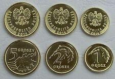 Polen / Poland 1+2+5 Groszy 2014 unz.