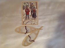 For Amercan Girl Dolls KIRSTEN'S SNOW SHOES Reproductions and Post Card New