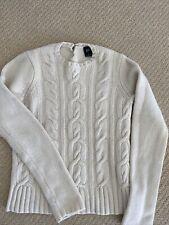 Women's Gap Cream Wool/Angora Blend Cable Knit Sweater Sz S