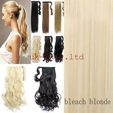 US blonde Clip In Hair Extension wrap around clip on ponytail  accessories REST