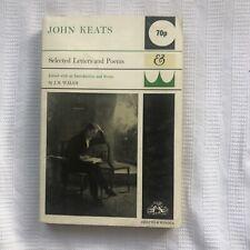 John Keats Selected Letters  & Poems PB Ed