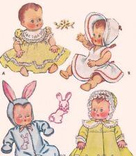 McCalls Dolls Clothes Sewing Pattern Dress Jumpsuit Bonnet 13 in 32 cm COPY