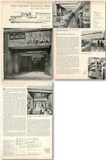 1956 Help Yourself Stationery Shop, Ryman New Bond Street Design, Plans