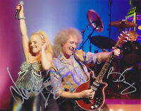 Brian May & Kerry Ellis HAND SIGNED 8x10 Photo Autograph Queen, Wicked Musical B