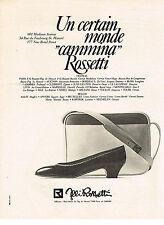 PUBLICITE ADVERTISING  1981   F.ILLI  ROSSETI  chaussures