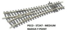 PECO SETRACK-ST-247-Y TURNOUT-BRAND NEW!!