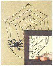 """Spider web with Spider  Black Halloween Decoration  26"""" diameter   NIB"""