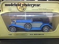 Matchbox Models of Yesteryear 1928 Mercedes SS Y-16 blauw / grijs