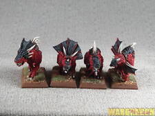 25mm Warhammer WDS painted Daemons of Chaos Flesh Hounds of Khorne h93