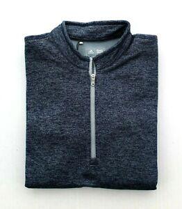 Adidas Women's Pullover 1/4 Zip Shirt, Brushed Terry Heathered Quarter-Zip