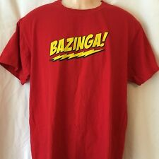 BAZINGA - Sheldon Big Bang Theory Men's T Shirt Size M (excellent) (T126)