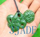 Green+Nephrite+Jade+Maori+Hei+Tiki+Pendant+Necklace+New+Zealand+Style+Jewelry