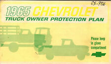 1965 Chevrolet Truck Owner's Protection Book & 65 Chevy truck Radio folder
