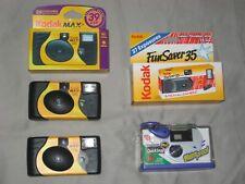 Kodak Fuji FunSaver 5 Cameras Flash 171 Pictures New Waterproof Expired 2004