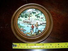 """Avon American Portraits Plate Collection """"The South"""" Riverboat scene 1985 Framed"""