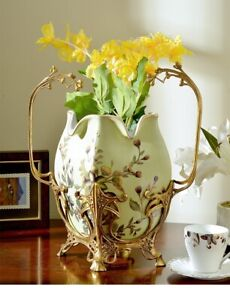 38 cm European style Urn Ginger Jar Bsket Vase