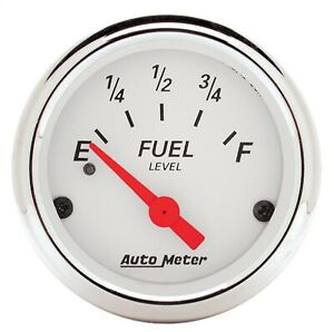 AutoMeter 1317 Arctic White Fuel Level Gauge