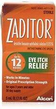 Zaditor Allergy Dry Eyes Antihistamine Eye Drops, 12 Hour Relief .17 fl oz Each