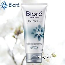 1x100 g. Biore Pure White Facial Foam Micro Scrub Face Wash Brighter