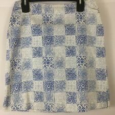 Geoffrey Beene Sport Skirt Size 4 Blue White Front Pockets Hidden Back Zipper