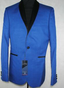 """Mens Suit Jacket Blazer Blue Slim Fit Party Occasion NEXT £75 40""""R Chest"""