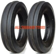 PAIR of 6.00-16 6 Ply Vintage Classic Tractor 3 Rib Front Tyres 600-16 600x16