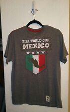 FIFA WORLD CUP BRASIL 2014 GRAY MEXICO T-Shirt Sz Medium